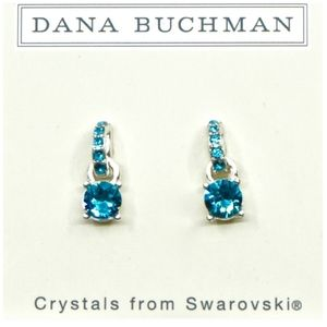 Dana Buchman Blue/Silver Swarovski Earrings